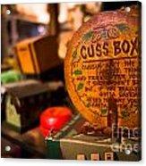 Vintage Cuss Box Acrylic Print