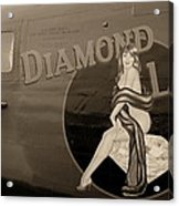 Vintage Diamon Lil B-24 Bomber Aircraft Acrylic Print