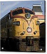 Vintage Diesel Locomotive Acrylic Print