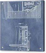 Vintage Door Lock Patent Acrylic Print