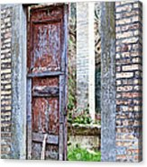 Vintage Doorway Acrylic Print by Susan Schmitz