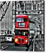 Vintage Double Decker In London Acrylic Print