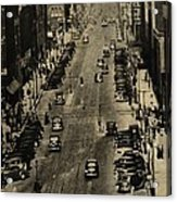 Vintage Downtown View Acrylic Print