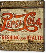 Vintage Drink Pepsi Cola 5 Cents Dsc07157 Acrylic Print