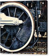 Vintage Drive Wheel Acrylic Print by Olivier Le Queinec