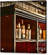 Vintage Druggist Shelf Acrylic Print