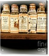 Vintage Dye Bottles Acrylic Print