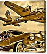 Vintage Earth Ancient Sky Acrylic Print