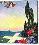 Vintage Easter Card Acrylic Print
