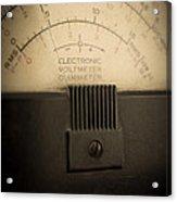 Vintage Electric Meter Acrylic Print
