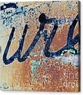 Vintage Eureka Acrylic Print
