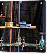 Vintage Factory Sink Acrylic Print