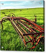 Vintage Farm Equipment I - Blue Ridge Acrylic Print by Dan Carmichael