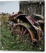 Vintage Farm Tractor Color Acrylic Print