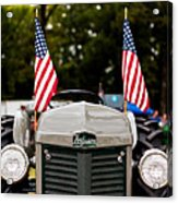 Vintage Ferguson Tractor With American Flags Acrylic Print