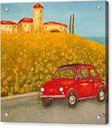 Vintage Fiat 500 Acrylic Print