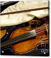 Vintage Fiddle In The Case Acrylic Print