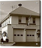 Congers, New York - Vintage Firehouse Acrylic Print
