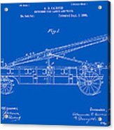 Vintage Firetruck Patent - Blueprint Acrylic Print