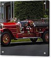 Vintage Firetruck Acrylic Print by Susan Candelario