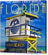 Vintage Florida Travel Style Artwork Acrylic Print