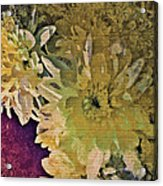 Vintage Flower Tapestry Acrylic Print