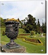 Vintage Flowerpots And Garden View - Powerscourt Garden Acrylic Print