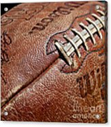 Vintage Football Acrylic Print by Art Block Collections