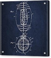 Vintage Football Patent Drawing From 1923 Acrylic Print
