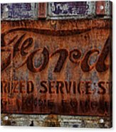 Vintage Ford Authorized Service Sign Acrylic Print