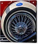 Vintage 1931 Ford Phaeton Spare Tire Acrylic Print