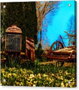 Vintage Fordson Tractor Acrylic Print
