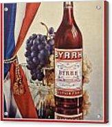 Vintage French Poster Byrrh Acrylic Print