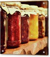 Vintage Fruit And Vegetable Preserves I Acrylic Print