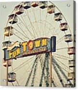 Vintage Funtown Ferris Wheel Acrylic Print