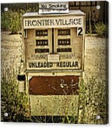 Vintage Gas Pump At An Abandoned Filling Station Acrylic Print