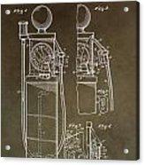 Vintage Gas Pump Patent Acrylic Print