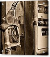 Vintage Gas Pump Showing Its Age Acrylic Print