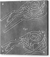Vintage Glass Mold Patent Acrylic Print