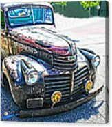 Vintage Gm Truck Frontal Hdr Acrylic Print