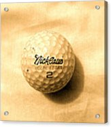 Vintage Golf Ball Acrylic Print