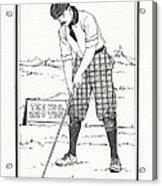 Vintage Golfer 1900 Acrylic Print