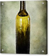 Vintage Green Glass Bottle Acrylic Print