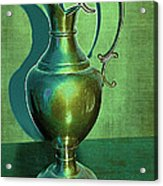 Vintage Green Pewter Pitcher Acrylic Print