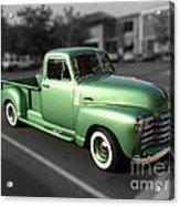 Vintage Green Chevy 3100 Truck Acrylic Print