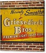 Vintage Griesedieck Bros Beer Dsc07192 Acrylic Print
