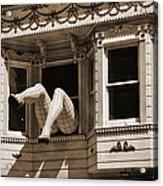 Vintage Haight And Ashbury San Francisco Acrylic Print by RicardMN Photography