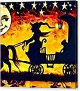 Vintage Halloween Scene Acrylic Print