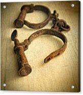 Vintage Handcuffs Acrylic Print