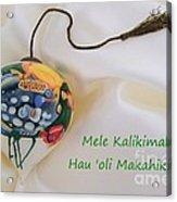 Vintage Hawaiian Christmas Bulb Acrylic Print